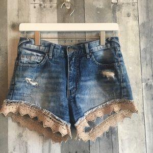 Free People Denim Shorts 25